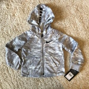 Nike Dri-Fit Long Sleeve Grey Camo Zip up